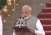 prime minister Narendra Modi swearing in ceremony 2019