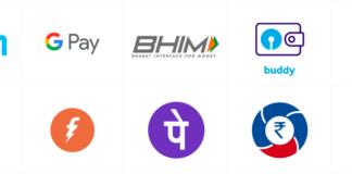 इंडिया में चलने वाले डिज़िटल पेमेंट एप्प्स